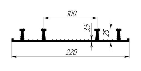 ОП-220(Р) для хол. швов бетон-я